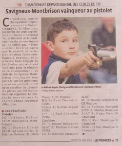 Article Le Progrès Quinson